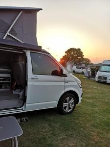 Casper at Whitstable Bay sundown